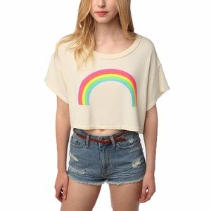 Wildfox Women Rainbow Cropped Too